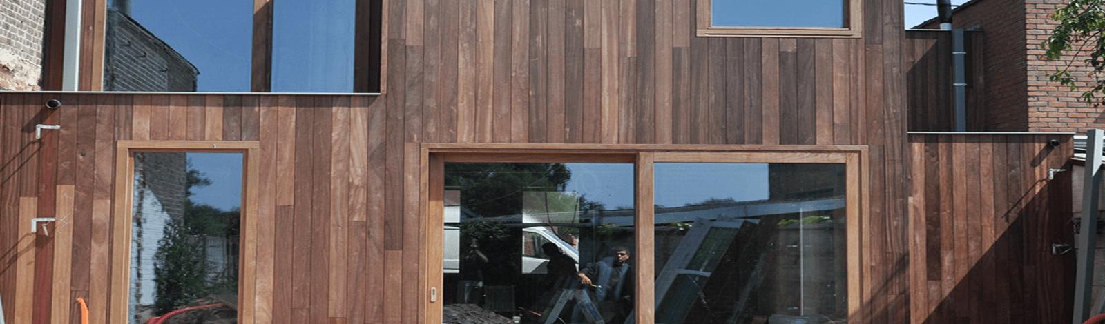 achterbouw houtskelet Waregem